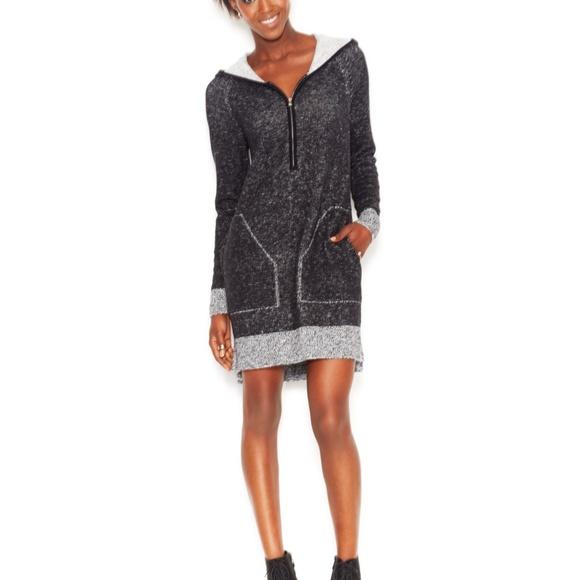 d68136f0a063 Rachel Roy Hooded Sweater Dress